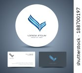 vector business card template... | Shutterstock .eps vector #188700197