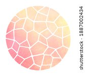 round mosaic watercolor... | Shutterstock . vector #1887002434