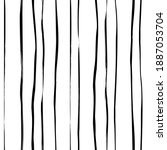 hand drawn thin doodle lines... | Shutterstock .eps vector #1887053704