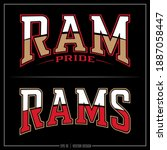 collection of two ram insignias ... | Shutterstock .eps vector #1887058447