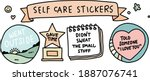self care stickers badges and... | Shutterstock .eps vector #1887076741