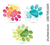 set of colorful modern graphic... | Shutterstock .eps vector #1887081604