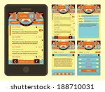 vector retro vintage email... | Shutterstock .eps vector #188710031