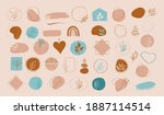 collection of vector hand drawn ... | Shutterstock .eps vector #1887114514