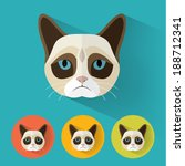 animal portrait with flat... | Shutterstock .eps vector #188712341