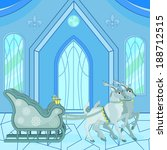 Snow Queen Palace And Sleigh