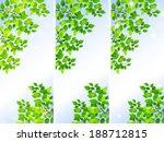 fresh green leaf landscape   Shutterstock .eps vector #188712815
