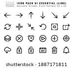 icon set of ui essential vector ...