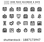 icon set of calendar and date...