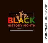 black history month african... | Shutterstock .eps vector #1887199984