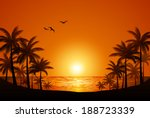 palm trees | Shutterstock .eps vector #188723339