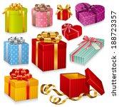 gift boxes | Shutterstock .eps vector #188723357