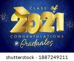 class of 2021 year graduation...   Shutterstock .eps vector #1887249211