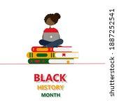 an illustration of an african... | Shutterstock .eps vector #1887252541