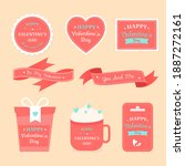 valentine's day label and badge ... | Shutterstock .eps vector #1887272161
