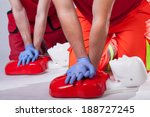 first aid course on white... | Shutterstock . vector #188727245