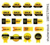set of yellow sales label.... | Shutterstock .eps vector #1887275941