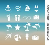 summer icon set  | Shutterstock .eps vector #188729309