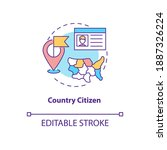 country citizen concept icon.... | Shutterstock .eps vector #1887326224