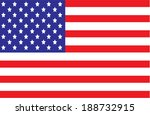 vector of america flag | Shutterstock .eps vector #188732915