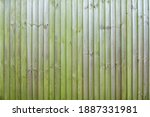 Aged Green Wooden Fence Texture....