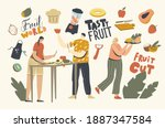 male and female characters cut... | Shutterstock .eps vector #1887347584