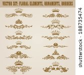set of vector damask ornaments. ... | Shutterstock .eps vector #188735474