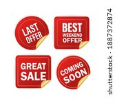 modern red special sale  best... | Shutterstock .eps vector #1887372874
