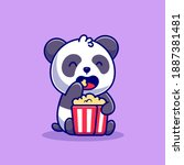 Cute Panda Eating Popcorn...