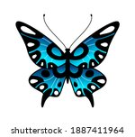 butterfly. colorful stylized... | Shutterstock .eps vector #1887411964
