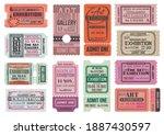 art gallery and museum... | Shutterstock .eps vector #1887430597