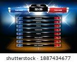 basketball game statistics... | Shutterstock .eps vector #1887434677