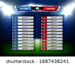 soccer football game scoreboard ... | Shutterstock .eps vector #1887438241