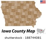Detailed map of the State of Iowa with all counties and main cities.
