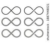 set of infinity icon. vector...   Shutterstock .eps vector #1887448021