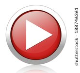 play button web icon | Shutterstock .eps vector #188746361