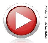 play button web icon | Shutterstock .eps vector #188746361