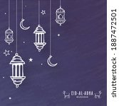 sketching lanterns with... | Shutterstock .eps vector #1887472501