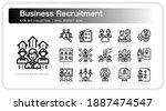 business recruitment  icons set....