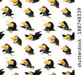 texture of cute cartoon ravens | Shutterstock .eps vector #188748539