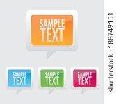 speech bubble icon | Shutterstock .eps vector #188749151