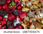 background of gold and red...   Shutterstock . vector #1887503674