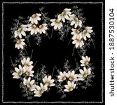 flower pattern for scarf and... | Shutterstock .eps vector #1887530104