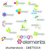 colourful modern design elements | Shutterstock .eps vector #18875314