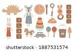 baby boho toys  abstract boho... | Shutterstock .eps vector #1887531574