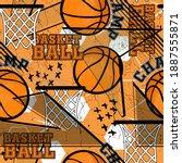 abstract seamless grunge sport... | Shutterstock .eps vector #1887555871
