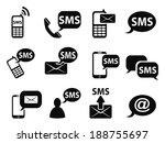 sms icons set | Shutterstock .eps vector #188755697