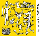 halloween poster | Shutterstock .eps vector #188755754