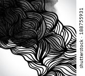 Abstract Vector Black And Whit...
