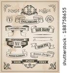 vintage retro hand drawn banner ... | Shutterstock .eps vector #188758655